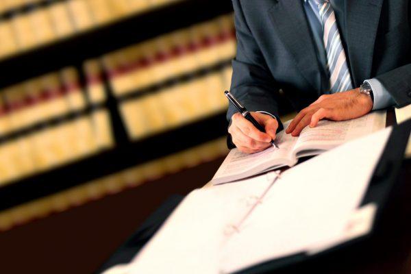 Lawyer working